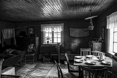 Interior from Skansen in Stockholm, Sweden 16/9 2016. (photoola) Tags: stockholm djurgården skansen statarlängan sv monochrome blackandwhite sweden museum photoola