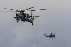 Mil Mi-28N - 6 (NickJ 1972) Tags: kubinka army 2017 airshow aviation mil mi28 havoc rf95326 03 white rf95576 41 blue goldeneagles berkuts