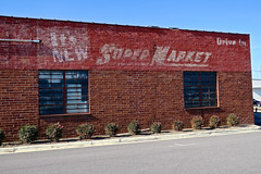 Super Market Ghost Sign, Gadsden, AL (Robby Virus) Tags: gadsden alabama al supermarket super market drivein its new faded signage brick wall ad advertisement