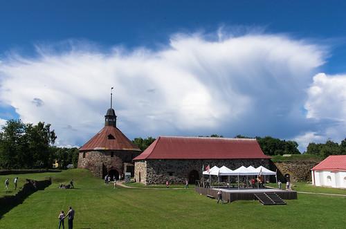Korela fortress, courtyard
