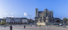 PANORAMIQUE CATHEDRALE SAINT JULIEN. LE MANS  FRANCE_BCO6133-6138 (bercast) Tags: 2015 cathedralesaintjulien france lemans octobre paysdeloire sarthe church bercast eu