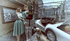 The best way of our reconciliation (Luca Arturo Ferrarin) Tags: secondlife love couple reconciliation shopping summer beautifulweather beautiful retro convertible