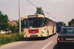 MAN SG240H SlavijaTrans SK-301-AN Sisak Croatie 1995a (mugicalin) Tags: croatie croatia hrvatska man manbus mansg220 années90 bus croatianbus 1995 hr 150 germanbus articulatedbus 310 triaxlebus triaxle