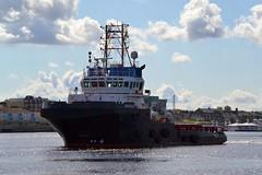 Eraclea Tyne 170817 (silvermop) Tags: ship boats ships sea tugboats tugs towing port river tyne eraclea