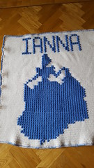Cinderella blanket for Ianna (dochol) Tags: cinderella silhouette cute chart graph name babyname alphabet crochet croche haakwerk hakeln haakenwert handmade homemade handcrafted blanket babyblanket manta afghan crochethooks