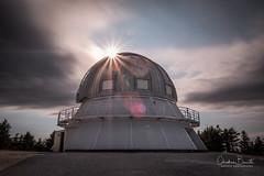 Machine à rencontre/Meeting apparatus/Mötesmaskin (Elf-8) Tags: astronomy observatory montmegantic sun flare longexposure cloud
