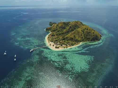 Kanawa island aerial scene