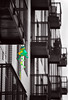 Bein' Green (Ian Sane) Tags: ian sane images beingreen balconies apartments frog windsock selective color south waterfront portland oregon canon eos 5ds r camera ef70200mm f28l is usm lens