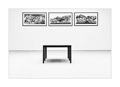 3 - Floating Desks (macplatti) Tags: xe2 xf1855mmf284rlmois art symmetrie bw sw schwarzweiss blackandwhite monochrome thisisart rhythm rhythmus vorarlberg austria aut bregenz kunsthaus künstlerhaus palaisthurntaxis