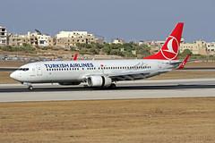 TC-JHM LMML 19-07-2017 (Burmarrad (Mark) Camenzuli) Tags: airline turkish airlines aircraft boeing 7378f2 registration tcjhm cn 40980 lmml 19072017