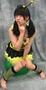 Bee On Your Way (emotiroi auranaut) Tags: bee girl puzzled sad disappointed pretty cute adorable costume antennae face hair green balloon sit sitting dismissed dismissal love dashed japan japanese asia asian feet toes foot barefoot model pout pouting teen teenage teenager female