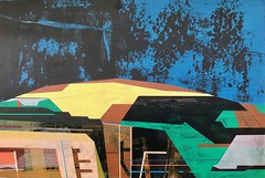 Jim Harris: Nightfall on the Baron Van Swieten Research Center New Northern Territories. (Jim Harris: Artist.) Tags: art arte mozart muzik muzak architecture avantgarde painting lartabstrait abstract kunst konst maalaus malerei jim harris van swieten