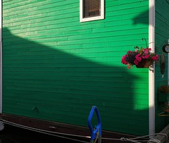 Green... (Beeke...) Tags: green houses floatinghouses abstract squereformat victoriabc canada boats flowers urban housing