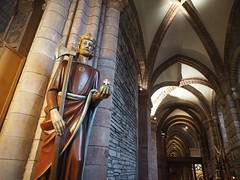 St. Olaf in Kirkwall (Feldore) Tags: st olaf statue kirkwall orkney islands norway norwegian present norse magnus feldore mchugh em1 olympus 1240mm axe cathedral