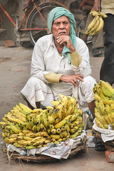 Banana Seller (Valdas Photo Trip) Tags: india delhi newdelhi portrait streetphotography streetportrait