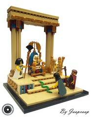 The Story of Moses - Aron and Moses visit the Pharaoh (jaapxaap) Tags: innovalug legomoses jaapxaap egypt lego history moses snake staff pharaoh palace wizzards bible throne moc