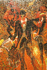 Garden of Circus Delights, detail (ktmqi) Tags: subway 34thstreet pennstation madisonsquaregarden mosaic publicart colour underground mta