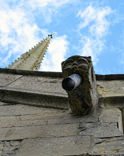 Gargoyle and spire