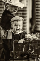 War baby (waynedavey67) Tags: canon 7dmkii 70200mmf28 40s 1940s worldwarll war baby child evacuee separation station period perioddress reenactment bw monocrome interestingmonday sepia splittonning bwartaward