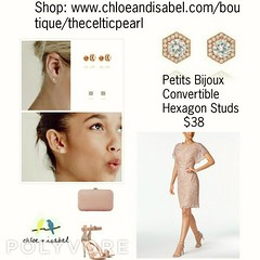 Today's Featured Product: Petits Bijoux Convertible Hexagon Studs $38  Shop: https://www.chloeandisabel.com/boutique/thecelticpearl/products/E355RG/petits-bijoux-convertible-hexagon-studs (thecelticpearl) Tags: crystal style thecelticpearl convertibles trend shopping earrings online featured summer rosegold accessories cubiczirconia lifetimeguarantee trendy shop chloeandisabel fashion sparkle halos daily buy jewelry love trending trends studs boutique hexagons product