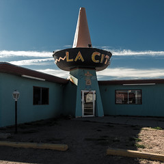(el zopilote) Tags: tucumcari newmexico street architecture townscape signs smalltowns powerlines storefronts us66 canon eos 1dsmarkiii canonef24105mmf4lisusm fullframe