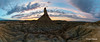 panorámica Castildetierra (xavi talleda) Tags: bardenasreales castildetierra navarra posta puestadesol sunset desierto desert