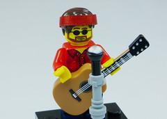 Brick Yourself Custom Lego Figure Folk Singer