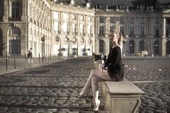 Urban Ballerina (II) - A. (vues_de_mon_balcon) Tags: femme woman light lumière matin bordeaux placedelabourse unesco ballet ballerina urban city ville