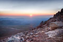 Sunrise atop Mount Evans, Colorado