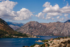 Kotor Bay (bluishgreen12) Tags: kotor montenegro bay landscape sea seaviews adriaticcoast mediterranean mountain oldtown ancientruin romantown walls fortication september fujifilm