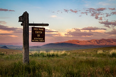 Horse Prairie (ebhenders) Tags: horse prairie cabin montana sunset evening sign beaverhead national forest