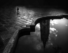 The engulfed cathedral (Oviedo) by Alfredo Oliva Delgado -