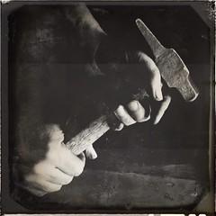 Working Class Hero - Labor Day (Poetic Medium) Tags: blackandwhite hands ipod kitcamghostbird snapseed
