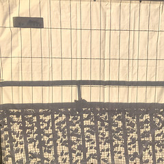 site fence of love (Soenke HH) Tags: landunsgbrücken fence lock love silhouette shadow light sun hamburg landungsbrücken germany iphone se pov licht schatten silouette bauzaun sommer cruisedays schloss liebe leben life