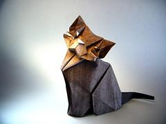 Cat - Yoo Tae Yong (Rui.Roda) Tags: origami papiroflexia papierfalten chat gato cat yoo tae yong