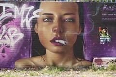 Bublegum (JOHN19701970) Tags: graffiti graff streetart artist artwork wall mural aerosol spray paint shoreditch london mos august 17 2018 uk bublegum bublegums girl smoking smoke cigarette beauty portrait art bricklane spitalfields e1 e2 eastend capital city england