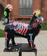 Sugar Scull Cat  [from Cat'n Around Catskill] (ArtFan70) Tags: sugarscullcat catnaroundcatskill heatherscarpati scarpati catskill newyork ny unitedstates usa america art statue sculpture cat feline animal