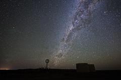 outback sky (Fat Burns ☮ (on/off)) Tags: stars nightsky outback outbacksky outbackaustralia outbackaustraliannightsky windmill milkyway nikond800 nikon140240mmf28 barcaldine queensland lagooncreekbarcaldine qld australia