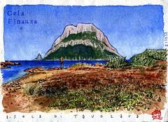 Isola di Tavolara (dagnellpoharsson) Tags: dagnell poharsson isoladitavolara sardegna sardaigne sardinia aquarelle watercolor artist carnetdevoyage croquis carnetdecroquis