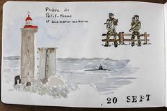Le Petit Minou et le sous-marin (chando*) Tags: aquarelle watercolor croquis sketch moleskine