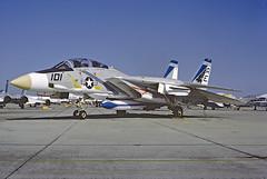 F-14A Tomcat 159430 of VF-143 AE-101 (JimLeslie33) Tags: 159430 f14 f14a vf vf143 pukin dogs nas oceana cvw6 ae ae101 naval aviation usn navy fighter tomcat grumman olympus om1 uss america cv66