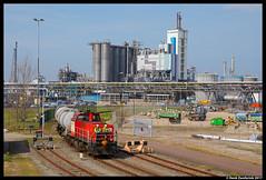 DB Cargo 6430, Pernis 31-03-2017 (Henk Zwoferink) Tags: hoogvlietrotterdam zuidholland nederland nl cargo pernis henk zwoferink haven rotterdam db deutsche bahn 6430 mak