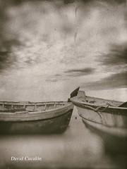 Old boats (David Cucalón) Tags: davidcucalon vintage retro oldphotography coast costa sky barcas boats sepia classic