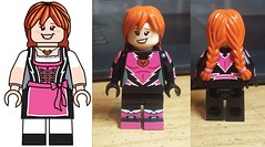 Oktoberkat WIP (Catanas) Tags: speedcat superhero lego oktoberfest dirndl dress ginger pink