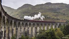 Viaducto de Glenfinnan y tren de vapor Jacobite, Escocia (Judit Rubio) Tags: nikon nikond7200 nikonistas escocia scotland glenfinnan jacobite harry potter hogwarts harrypotter tren train steam steamtrain viaducto viaduct puente bridge