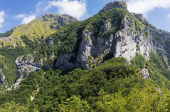 Monti della Garfagnana (gianKE) Tags: mountain landscape mountains forest nature scenery background green tree road clouds range view mist color sky travel trail scene outdoor top hiking edge stazzema italia