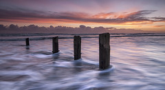 Morning post (Elidor.) Tags: spittal berwickupontweed northumberland northeast coast border d90 sunrise dawn beach groynes