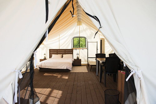 canvas glamping tent Korea2