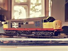 "Lima '00' scale model of 37 506 ""British Steel Skinningrove'. (Chris the coal.) Tags: lima model 37506 skinningrove redstripe englishelectric britishsteel limamodels"