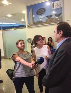 Michel Sogny TV géorgienne Batumi Airport